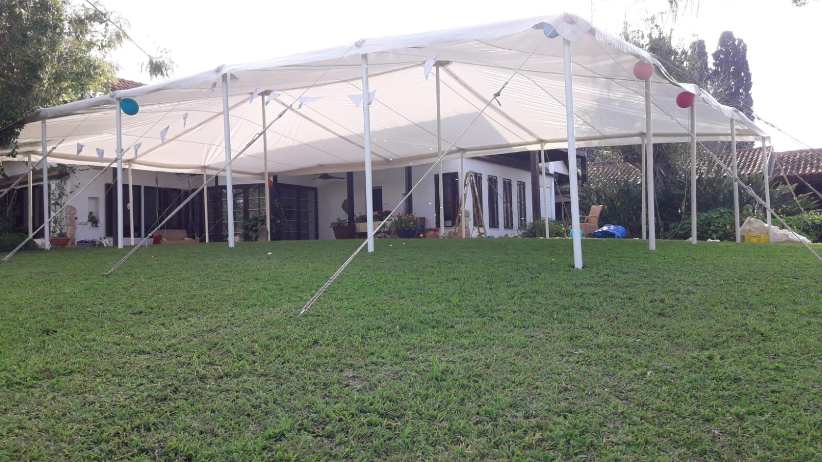 אוהל נגד גשם בבני ציון